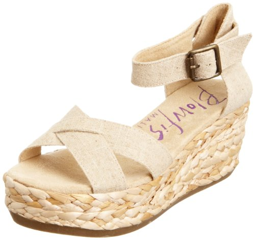 Blowfish Malibu Women's Gypsy Natural Linen Wedges BF1994 6 UK