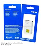 DiGiBaBa Guaranteed New Original Nokia BP-4L Battery for Nokia 6760 Slide, E52, E55, E6, E61i, E63, E71, E72, E90, N97 Mobile Phones / BP4L - Li-Polymer 1500 mAh High Capacity - In Sealed Original NOKIA Blister Packaging