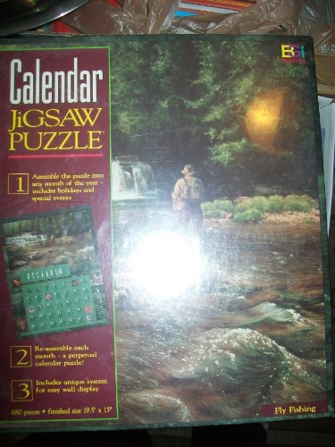 "680 Pc. Calendar Jigsaw Puzzle ""Fly Fishing"""