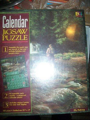 "680 Pc. Calendar Jigsaw Puzzle ""Fly Fishing"""