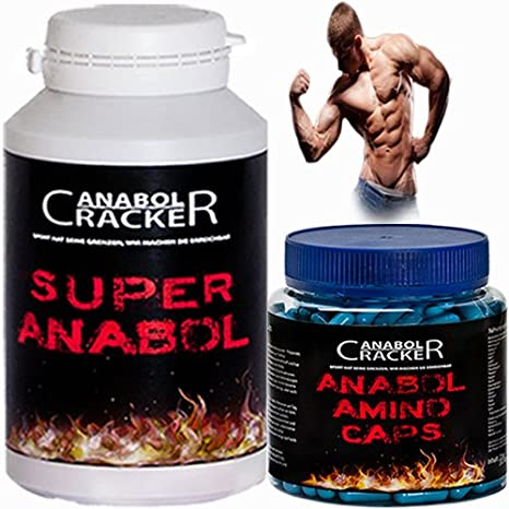 Anabol Amino Caps, 350 Kapseln, Aminosäuren Arginin Bcaa + 100 Kapseln Super Anabol Muskelaufbau