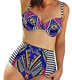 Sexy-Womens-Novelty-Print-High-Waist-Bikini-Charming