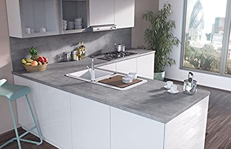 Egger Contemporary Boston Concrete Effect Kitchen Bathroom Laminate Worktop Offcut Work Surface 40mm Breakfast Bar - 3m x 670mm x 38mm Breakfast Bar