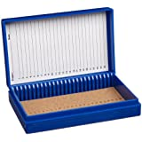 Heathrow Scientific Microscope Slide Box, 100-Place, Assorted Colors