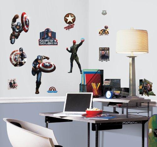 RoomMates RMK1640SCS Captain America Movie Peel & Stick Wall Decals - 1