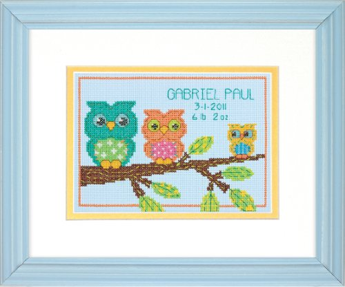 Dimensions Needlecrafts Counted Cross Stitch, Owl Mini Birth Record front-299367