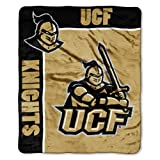 NCAA Central Florida Knights School Spirit Royal Plush Raschel Throw Blanket, 50x60-Inch