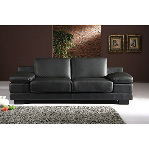 designer leder sofa 3 sitzer garnitur bett couch 402 3 s bettmix. Black Bedroom Furniture Sets. Home Design Ideas