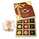 Sweet Yummy Best Chocolates With Birthday Card - Chocholik Luxury Chocolates