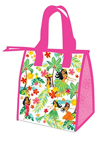 Hawaiian Island Hula Honeys Pink Small Insulated Reusable Lunch Bag - 1