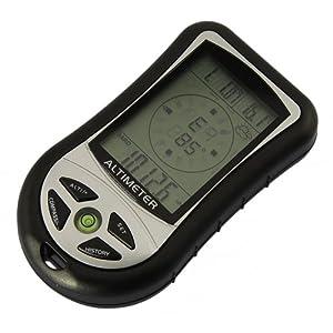 Hoch Qualitaet 8 In 1 Multifunktions-Digital LCD Elektronische Hoehenmesser Mit Kompass Hoehenmesser Barometer Thermo Temperatur, Fuer Die Meisten Outdoor-Sportarten