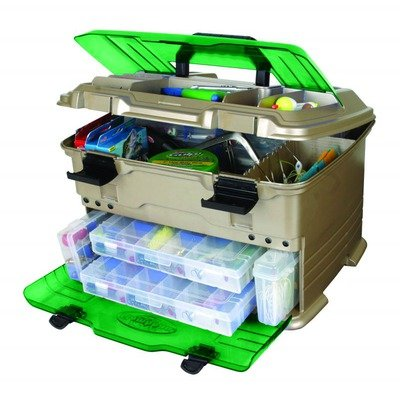 Flambeau Tackle T5 Multi-Loader Tackle Box (Gold/Green, 17.5x12.5x11-Inch)