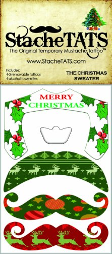 StacheTATS The Christmas Sweater Temporary Mustache Tattoo