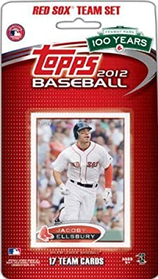 2012 Topps Boston Red Sox Factory Sealed Special Edition 17 Card Team Set; Cards Are Numbered Bos1 Through Bos17 and Are Not Available in Packs. Players Included Are Jacoby Ellsbury, Adrian Gonzalez, Dustin Pedroia, David Ortiz, Jon Lester, Josh Beckett a