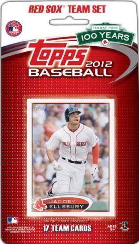 2012 Topps Boston Red Sox Factory Sealed Special Edition 17 Card Team Set; Cards Are Numbered Bos1 Through Bos17 and Are Not Available in Packs. Players Included Are Jacoby Ellsbury, Adrian Gonzalez, Dustin Pedroia, David Ortiz, Jon Lester, Josh Beckett and Others Plus 3 Cards Celebrating Fenway Park's 100 Year Anniversary.