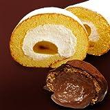 アンジェラ お試しセット 御堂筋ロール1本+シュートリュフ3個セット ロールケーキ モンブラン入り シュークリーム チョコレート 味