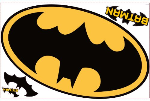 Roommates Rmk1461Slm Batman Logo Peel & Stick Giant Wall Decal front-1064495