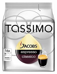 Tassimo Jacobs Espresso classico, 5er Pack (5 x 16 Portionen)