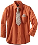 American Exchange Boys 2-7 Little Dress Shirt With Tie And Pocket Square