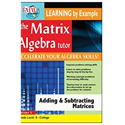 Matrix Algebra Tutor: Adding & Subtracting Matrices