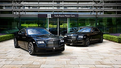 2016 Rolls Royce Wraith Black Badge Ghost Black Badge Silk Wall Art Poster Print - 13x20 inch (33x50cm) (Rolls Royce Poster compare prices)