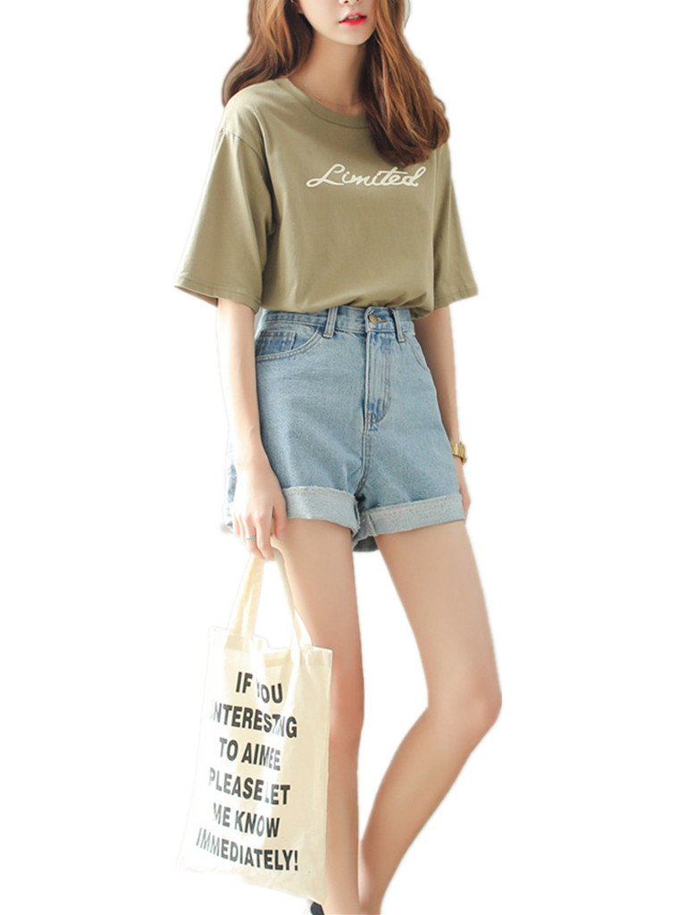 Season Show Girls Denim Shorts Retro High Waisted Jeans Shorts Pant 1