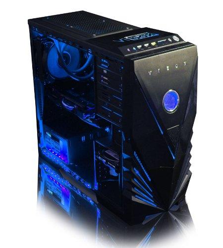 VIBOX Submission 29A – Nouveau 4.2GHz Huit 8-Core, GTX 960, Eau Refroidi, Extrême Performance, Gamer, Gaming PC, Desktop PC Ordinateur de Bureau avec Néon Bleu Kit d'éclairage intérieur (4.0GHz (4.2GHz Tubo) AMD FX 8350 Nouveau Huit 8-Core Processeur, 2 Go Nvidia Geforce GTX 960 Carte Graphique, Coolermaster R2 Eau Refroidisseur, 1To Disque Dur, 16 Go 1600MHz RAM, Haute Qualité 500W PSU, pas inclus de Windows logiciel)