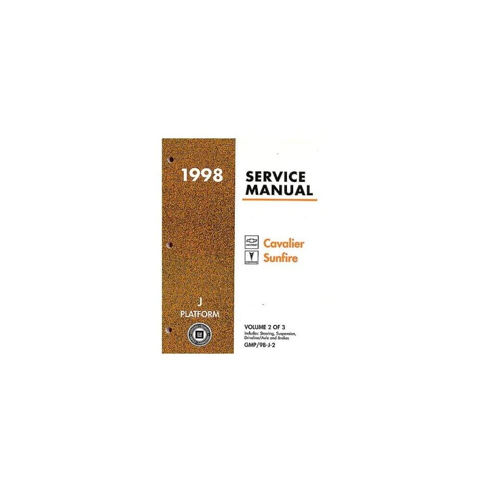 1998 CAVALIER SUNFIRE Shop Service Repair Manual Book