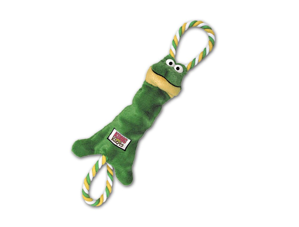 KONG Tugger Knots Frog Dog Tug Toy