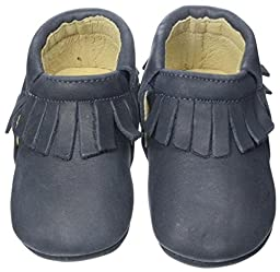 Old Soles Boys Fringe Boot Slip On (Infant/Toddler), Distressed Navy, 19 EU(3 M US Infant)