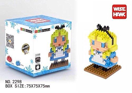 4 Box Disney Set - Elsa Anna Olaf Alice Nanoblocks Mini Figure Lego Toy