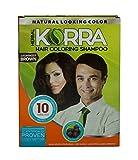 Korra Coloring Shampoo Hair Color Darkest Brown Pack of 30,30 ml Each