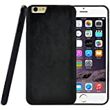 iPhone 6 Plus Case, caseen® fusie TPU Leather Hybrid Case Cover (Black) Ultra Flexible Thin Slim for Apple iPhone 6 Plus 5.5 Inch