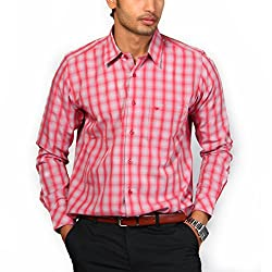 Provogue Men's Casual Shirt (8903522174995_100799-RE-231_Small_Red)
