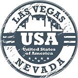 USA Nevada Las Vegas Bumper Sticker 12 x 12 cm