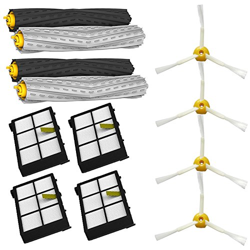 Shp-Zone Tangle-Free Debris Extractor Set & Side Brushes & Hepa Filters Replacement Kit For Irobot Roomba 800 Series 870 880 front-592959