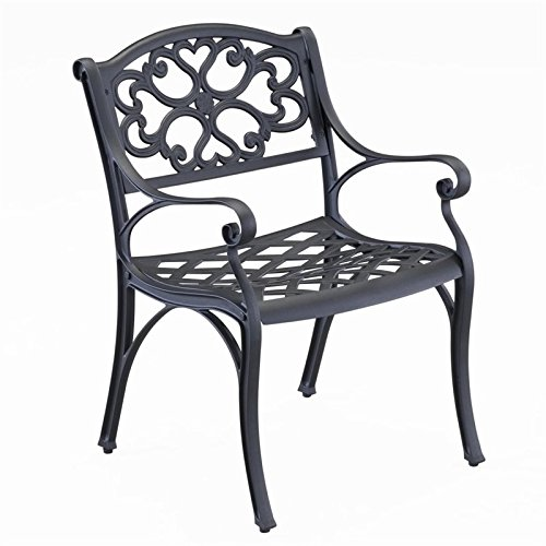 Home styles 5554-802 Arm Chair Black Finish 2Pack