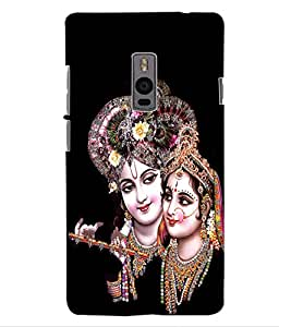 ColourCraft Lord Radha Krishan Design Back Case Cover for ONEPLUS TWO
