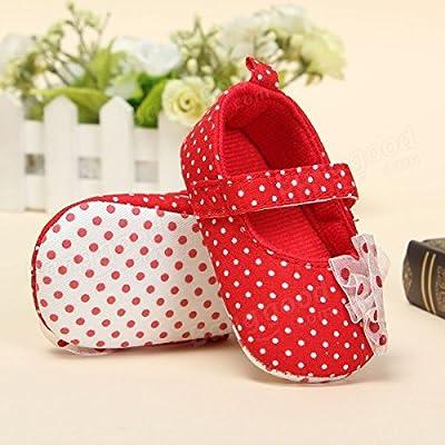 ADAALEN Baby Kleinkind Polka Punkt Blumen Schuh weiche Sohle Entzückende Prewalker von ADAALEN auf Gartenmöbel von Du und Dein Garten