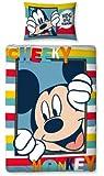 Character World 135 x 200 cm Disney Mickey Mouse Play Single Panel Duvet Set, Multi-Color