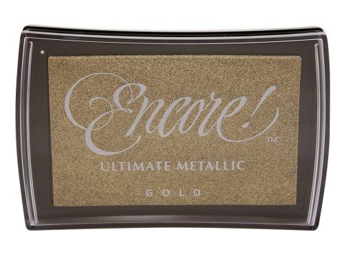 Tsukineko Full-Size Encore Ultimate Metallic Pigment Inkpad, Gold