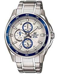 Casio Edifice Multi Dials EF-334D-7AVDF (ED422) Men's Personalized Watch