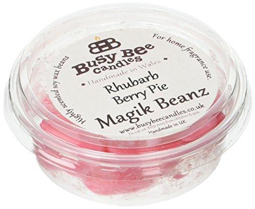 Busy Bee Bougies à tarte Rhubarbe Berry Magik Beanz, rouge, lot de 6