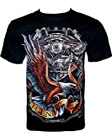 Rock Chang T-Shirt Legendary Of Motorcycles (Glow In The Dark) GR 323