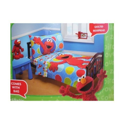 Marvelous Sesame Street Elmo Piece Toddler Bed Set