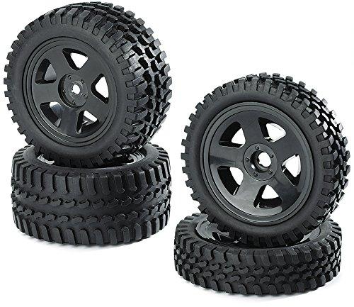 Carson-500900027-110-ReifenFelgen-Set-All-Terrain-Modellbauzubehr-schwarz