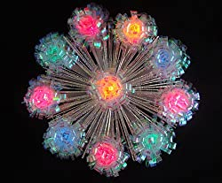 "8"" Lighted Shimmering Iridescent Retro Burst Christmas Tree Topper -Multi Lights"