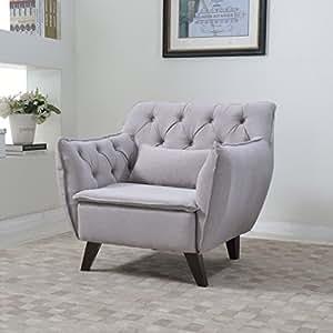 Amazon.com - Mid Century Modern Tufted Linen Fabric Living Room Accent