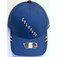 NHL Colorado Avalanche Adjustable Velcro Strap Reebok Hat - Youth 4 - 7 Yrs