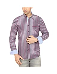 Moksh Black Slim Fit Cotton Shirt V2IMS0414LS-180